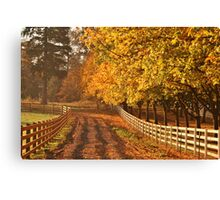 Glowing Report Canvas Print