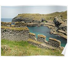 Tintagel Castle, Cornwall, England Poster