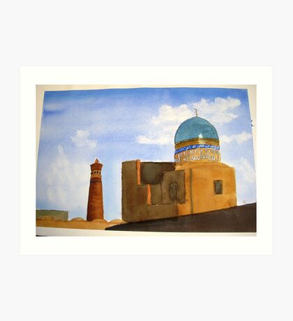 Bukhara skyline Art Print