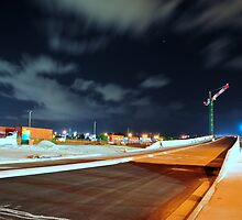 Unfinished night road by micnic2000