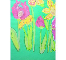 Parrot Tulips Photographic Print