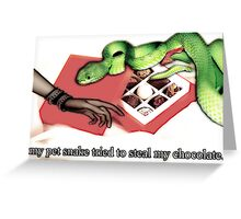 Snake & chocolate greeting card Greeting Card