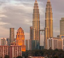 Petronas Twin Towers at Dusk by Ezry