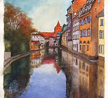 River Ill - Strasbourg, France by Dai Wynn