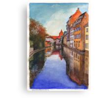 River Ill - Strasbourg, France Canvas Print