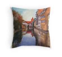 River Ill - Strasbourg, France Throw Pillow