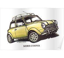 Moris Mini Cooper Car Poster