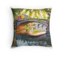 Autumn Evening in Strasbourg, France Throw Pillow