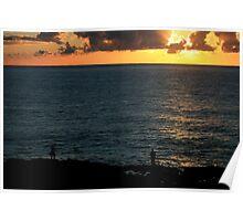 Sunrise Boulder Beach Ballina NSW Poster