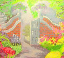 English Garden Gate by amybcraft77