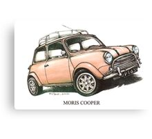 Moris Mini Cooper Car Canvas Print
