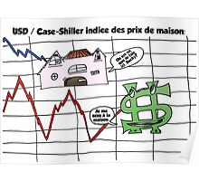 Comic USD / Case-Shiller Indice Immobilier Poster