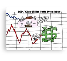 Comic USD / Case-Shiller Home Price Index graph Canvas Print