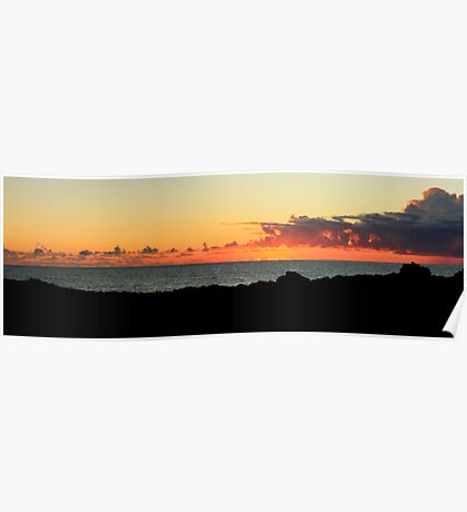 Sunrise Boulder Beach NSW Poster