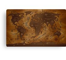 Map of a Parallel World Canvas Print