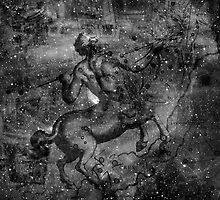 When The Stars Are Right - The Lambda Centauri Nebula in Centaurus (black & white version) by Richard Maier