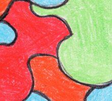 Abstract Art Design, Colours Colors Colour Spectrum Spectral Color Puzzle By Chris McCabe - DRAGAN GRAFIX Sticker