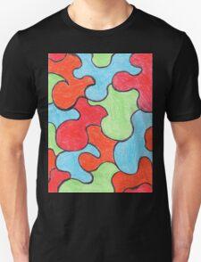 Abstract Art Design, Colours Colors Colour Spectrum Spectral Color Puzzle By Chris McCabe - DRAGAN GRAFIX Unisex T-Shirt