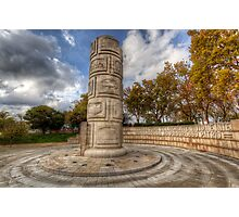 Monument To The Peoples Struggles Photographic Print