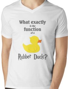 Function of a Rubber Duck Mens V-Neck T-Shirt