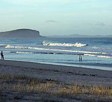 Evening walk on a beach by Timothy John Keegan