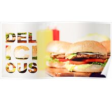 Classic Hamburgers with typography  Poster