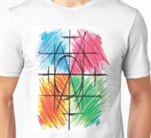 Abstract Line Art Design, Colours Colors Colour Spectrum Spectral Color By Chris McCabe - DRAGAN GRAFIX Unisex T-Shirt