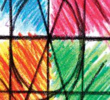 Abstract Line Art Design, Colours Colors Colour Spectrum Spectral Color By Chris McCabe - DRAGAN GRAFIX Sticker
