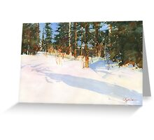 Making the way through the snowdrifts Greeting Card