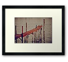 Boats Pass By Framed Print