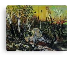 regrowth after the bush fire Canvas Print