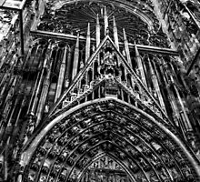 Strasbourg Cathedral in Alsace France by Ian Mooney