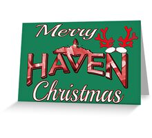 Merry Haven Christmas Logo Greeting Card