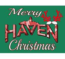 Merry Haven Christmas Logo Photographic Print