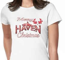 Merry Haven Christmas Logo Womens Fitted T-Shirt