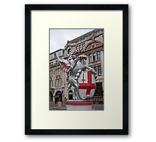 St Georges Dragon statue in london Framed Print