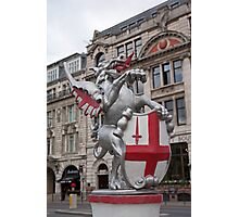 St Georges Dragon statue in london Photographic Print