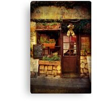 France cafe Canvas Print
