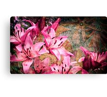 Collage from flowers Canvas Print