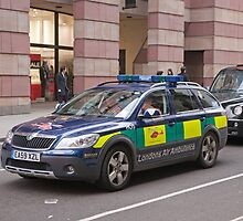 Londons Air Ambulance Doctors & Paramedic in their car by Keith Larby