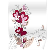A bouquet of hearts card Poster