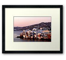 Little Venice at sunset Framed Print