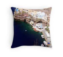 Aegean life Throw Pillow