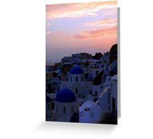 Sunset over Oia II Greeting Card