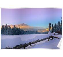 Banff Sunset Poster