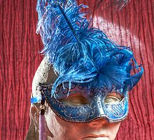 Woman sculpture with blue venetian mask HDR version by 7horses