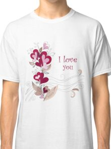 A bouquet of hearts card Classic T-Shirt