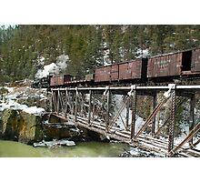 Crossing the Animas River Photographic Print
