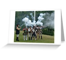 Musket Fire to Celebrate Independence Day Greeting Card
