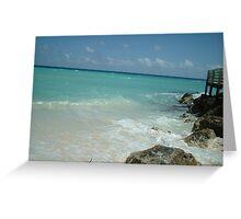 Quiet Caribbean beach view Greeting Card